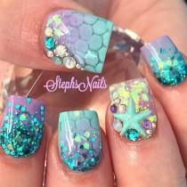 wedding photo - Mermaid Nails