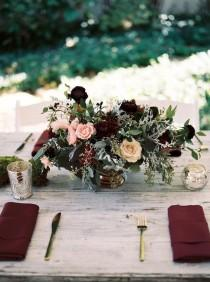 wedding photo - Trending-10 Burgundy And Blush Wedding Centerpieces For 2018 - Page 2 Of 2