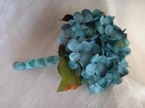 wedding photo - Hydrangea toss bouquet, flower girl bouquet, small bridal bouquet