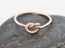 wedding photo - Christmas Sale, 10K Rose Gold Ring, Love Knot Ring, Rose Gold Knot Ring, Love Knot Jewelry, Friendship Ring, Knotted Ring, Promise Ring