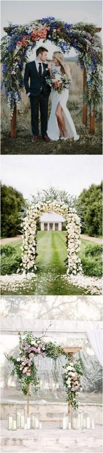 wedding photo - 20 Prettiest Floral Wedding Arch Decoration Ideas
