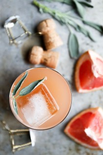 wedding photo - Grapefruit And Sage Champagne Cocktails