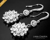 wedding photo - Cubic Zirconia Bridal Earrings Clear Crystal Chandelier Earrings Luxury CZ Dangle Earrings CZ Bridal Crystal Jewelry Prom Crystal Earrings - $34.90 USD