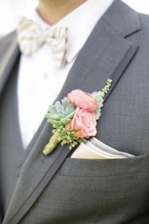 wedding photo - Gray, Peach And Gold Wedding