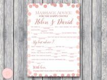wedding photo - CUSTOM Marriage advice cards, Mad Libs - Bride & Bows