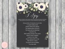 wedding photo - DOWNLOAD White Floral I Spy Wedding Scavenger Game - Bride & Bows