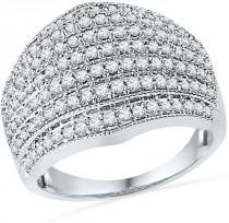 wedding photo - 1 CT. T.W. Diamond Multi-Row Anniversary Band in 10K White Gold
