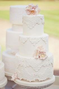 wedding photo - Lace Wedding Cakes - Part 4