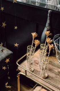 wedding photo - DIY Star Champagne Flutes