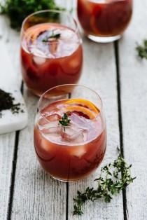 wedding photo - Spiked Blood Orange Tea