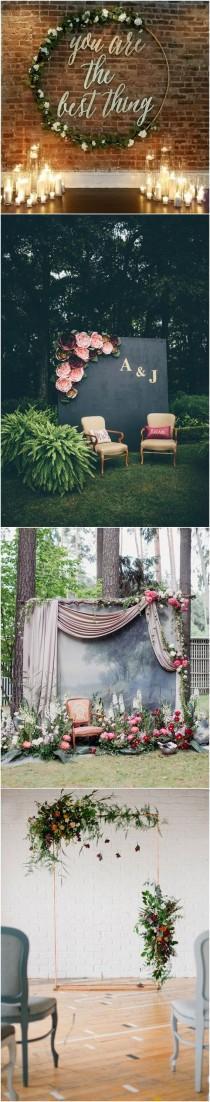 wedding photo - 20 Best Of Wedding Backdrop Ideas From Pinterest