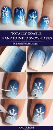 wedding photo - 7 Best Tutorials On Snowflake Nails Designs