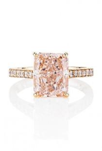 wedding photo - Pink Engagement Ring