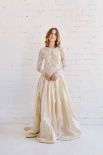 wedding photo - Silk Wedding Skirt, Bridal Champagne Skirt, Silk Taffeta Skirt, Silk Skirt, Bridal Separates, Skirt With Pockets, Floor Length Skirt - LAYLA