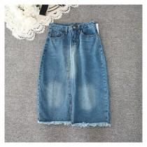 wedding photo - Fringe Slimming Sheath Zipper Up Cowboy Summer Buttons Skirt - beenono.com
