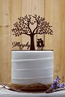 wedding photo - Customized Wedding Cake Topper, Personalized Cake Topper for Wedding, Custom Personalized Wedding Cake Topper, Last Name Cake Topper - 02