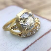 "wedding photo - CvB ""Ann"" Style Brush Metal Halo Ring Setting"