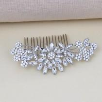 wedding photo - Bridal Hair Accessories, Wedding Hair Comb, Bridal Hair Piece, Silver Bridal Comb, Crystal Hair Comb, Bridal Hair Clip, Bridal Headpiece