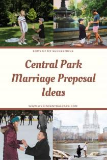wedding photo - Central Park Marriage Proposal Ideas