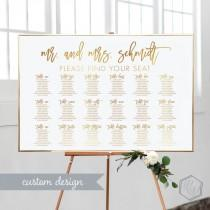 wedding photo - Gold Seating Chart Wedding Printable Wedding Seating Chart DIY Seating Chart Wedding Modern Wedding Seating Chart Table Seating Chart