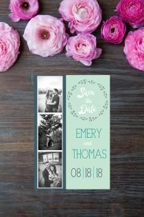 wedding photo - Save the Date Photo Strip. Digital Download. Printable PDF.