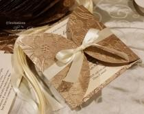 wedding photo - Gold Wedding Invitations
