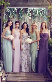 wedding photo - Mismatched Bridesmaids