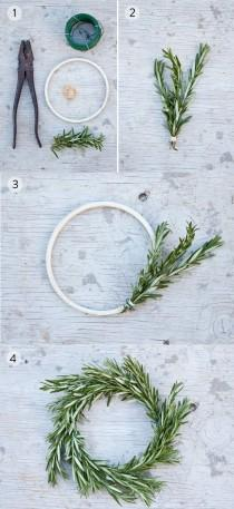wedding photo - Rosemary Wreath – DIY