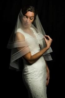 wedding photo - Horsehair Trim Veil, Double Horsehair Trim Wedding Veils, Cathedral Horsehair Veil, Edge Veil, Blusher Veil, Veil, Veil Handmade in the USA