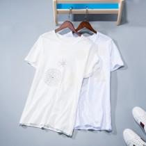 wedding photo - Must-have Simple Fresh Attractive Embroidery Short Sleeves Cotton Comfortable T-shirt - beenono.com