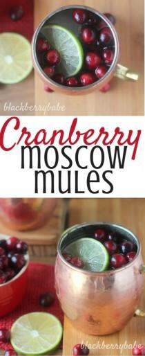 wedding photo - Cranberry Moscow Mules