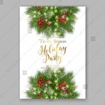 wedding photo - Merry Christmas Invitation with fir branch