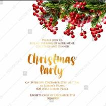 wedding photo - Merry Christmas party invitation