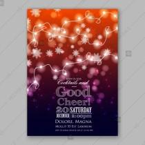 wedding photo - Merry Christmas Invitation Glowing Lights