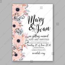 wedding photo - Anemone wedding invitation card printable template