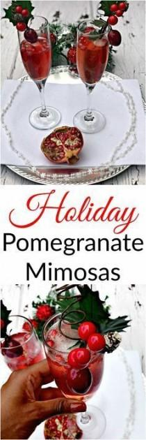 wedding photo - Pomegranate Holiday Mimosas