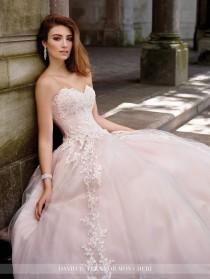 wedding photo - Lace A-Line Sweetheart Neckline Wedding Dress- 117267 Topaz