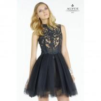 wedding photo - Black/Nude Alyce Mothers Gowns Long Island Alyce Black Label 5757 Alyce Paris Black Label - Top Design Dress Online Shop