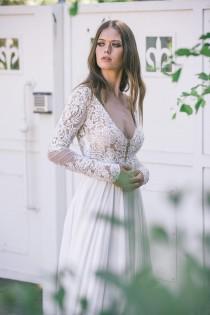 wedding photo - Bohemian Wedding Dress, Boho Wedding Dress,  Backless Wedding Dress, Long Sleeve Wedding Dress, Boho Long Sleeve Wedding Dress