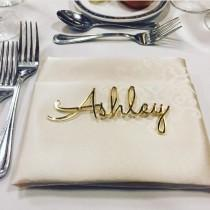 wedding photo - Personalized wedding place cards, Laser cut names, Wedding table place, Guest names, Weddings cards, Laser cut name signs, Place settings