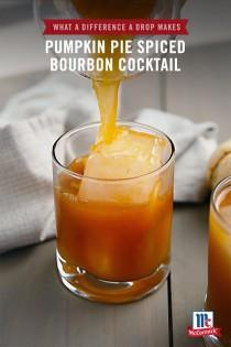 wedding photo - Pumpkin Pie Spice Bourbon Cocktail
