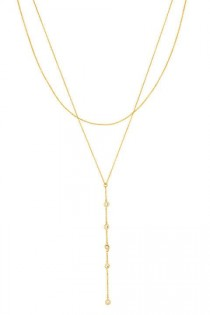 wedding photo - 10 Gold Lariats To Wear With Low Necklines