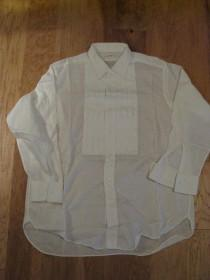 wedding photo - 1970s White Van Heusen NOS Collarite Mens Tuxedo Shirt/ Vintage Tux Shirt/ Mens Vintage Dress Shirt / Size 16/32