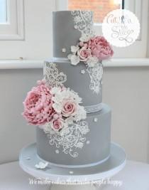 wedding photo - Gray Cake
