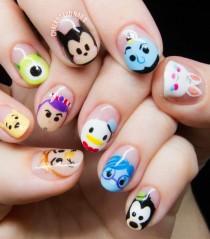 wedding photo - Disney Tsum Tsum Character Nail Art