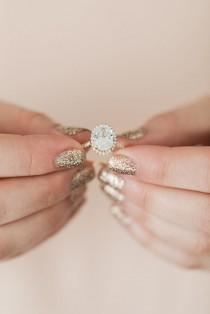 wedding photo - Wedding Bells: Our Favorite Engagement Ring   Manicure Combos