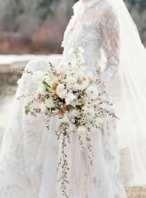 wedding photo - Inspired By Nature: Winter Wedding Flowers By Sarah Winward - Once Wed
