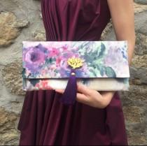 wedding photo - Floral Clutch / Bridesmaids Gift / Wedding Clutch / Dinner Bag / Evening Bag/ Wedding Gift