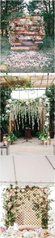 wedding photo - 10 Brilliant Flower Wall Wedding Backdrops For 2018
