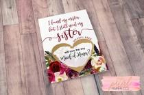 wedding photo - Scratch Off I found my mister but I still need my sister Card - Sister Maid of Honor, Bridesmaid Proposal Card with Metallic Envelope